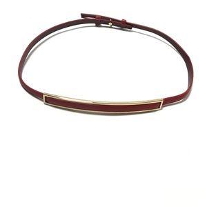 Reiss Women's Skinny Waist Belt 100% Cow Leather